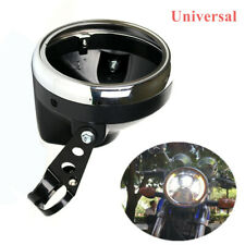 "7""Motorcycle Headlight Cover Universal Round Headlamp Fairing Retro  Racer Cover"