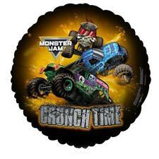 Monster Truck Jam Crunch Time Foil Mylar Balloon 18 Inch Birthday Party Supplies