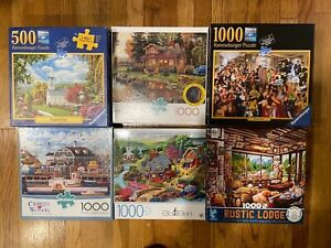 Lot of 6 complete Puzzles Buffalo and Ravensburger 1000 PCs and one 500 PCs