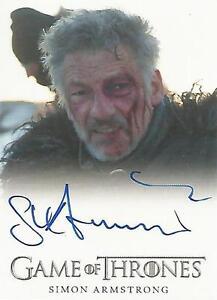 """Game of Thrones Season 6 - Simon Armstrong """"Qhorin Halfhand"""" Autograph Card"""