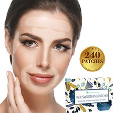 Facial Patches Wrinkle Remover Strips - 240 Face Tape Smoothing: Forehead Eye &