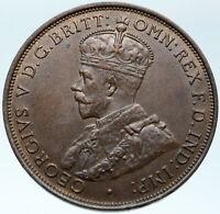 1926 JERSEY under UK King George V Shield OLD Genuine 1/12 Shilling Coin i82755