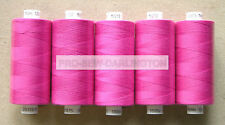 5 x HOT PINK MOON POLYESTER SEWING THREADS COTTON ( M213 )