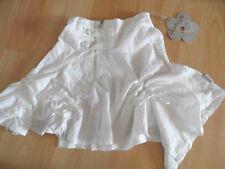 CARBONE asymetrischer weißer Raffrock Gr. 92-128  NEU