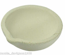 "3"" WHITE CERAMIC MELTING POT FOR GOLD/ SLIVER SCRAP JEWELRY"