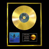 NIRVANA NEVERMIND  CD  GOLD DISC RECORD VINYL LP FREE P+P!!