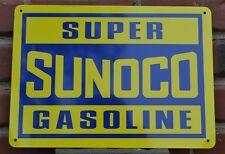 Super Sunoco Gasoline Gas Pump SIGN Racing Fuel Mechanic Garage AD Free Shipping
