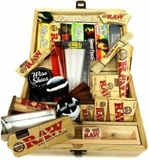 Jumbo Box Gift Set - Rolling Papers, Wooden Box, Cones, Rolling Tips, Metal Tin