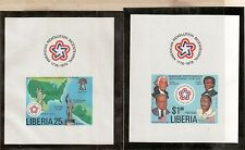 Liberia Scott 769 - 770 Var. - Souvenir Sheets. MNH OG. Imperf.  #02 LIB769SS