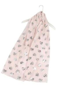 Metallic Foil Sketch Love Heart Scarf Large Wrap Scarf in Choice of Colours