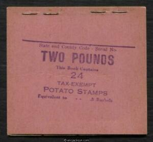 Potato Tax, RI14a provisional booklet of 24, purple on pink cover, mint, VF