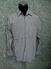 180 AY SIGNUM Casual camicia uomo tgl M maniche lunghe grigio chiaro a righe