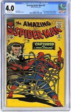 E007. AMAZING SPIDER-MAN #25 Marvel CGC 4.0 VG (1965) 1st CAMEO App of MARY JANE