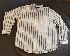Tommy Hilfiger Mens Shirt Size XXL Button Front Long Sleeve Cotton Striped