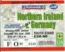 TICKET NORTH IRELAND-GERMANY DEUTSCHLAND 2005