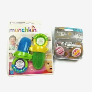 Munchkin Fresh Food Feeder with Tommee Tippee  Orthodontic Pacifiers Each a 2 Ct