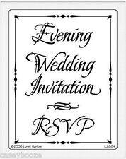 Dreamweaver Stainless Steel Embossing Stencil - Invitation Combo - Wedding - New