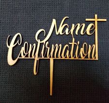 Laser Cut Wooden Cake Topper - Personalised Name Confirmation