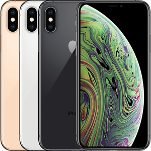 Apple iPhone XS 64GB 256GB 512GB SpaceGrey Silver Gold Unlocked 4G Mobile Good
