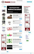 DAILY EXPIRED DOMAINS and DOMAIN REGISTRATION WEBSITE BUSINESS FOR SALE!