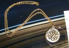 Vintage Pendant Necklace Retro Jewelry Cool Metal Design Round Hoop And Circle