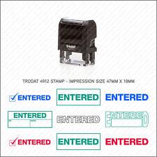 Entered Rubber Stamp Self Inking Business Shop Office School Trodat 4912