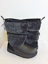 UGG REYKIR BLACK WATERPROOF LEATHER DRAWSTRING Boot US 9 / EU 40 / UK 7.5 New