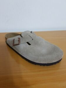 Birkenstock Boston Soft Footbed Taupe Suede Leather Clog - NEW - Choose Size