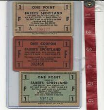 vintage lot one point tickets Faber's Coney Island 1240 Surf ave FREE SHIPPING