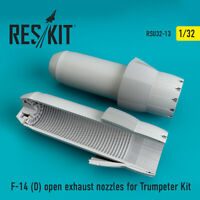 F-14 (D) open exhaust nozzles for Trumpeter Kit 1/32 ResKit RSU32-0013