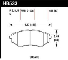 Hawk 2006-2007 For B9 Tribeca Limited HPS 5.0 Front Brake Pads - hawkHB533B.6