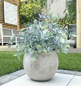 Concrete Terracotta Style Plant Pot Decorative Succulent Herb Cactus Planter