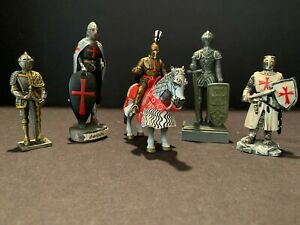 MEDIEVAL / MIDDLE AGES (KNIGHT) FIGURES - VARIETY OF FIVE (5) FIGURES PRE-OWNED!
