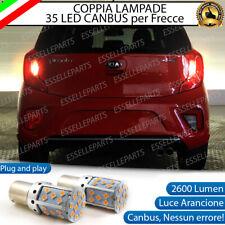 COPPIA LAMPADE PY21W CANBUS 35 LED KIA PICANTO MK2 FRECCE POSTERIORI NO ERROR