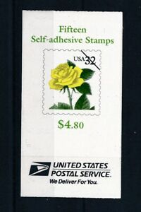 [342442] U.S.A flowers good very fine MNH complete booklet