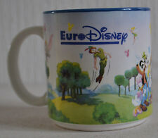 VERY RARE OFFICIAL EURO DISNEY MUG / CHARACTERS AND CASTLE / RETRO DISNEYLAND