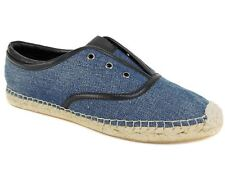 Elie Tahari Women's Mako Espadrille Slip-On Oxfords Denim Blue Size EU 37.5 M