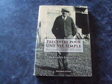 récit  PRECEPTES POUR UNE VIE SIMPLE Emile GUILLAUMIN (1873-1951) - B. FARINELLI