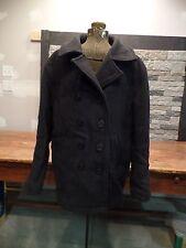 United States Pea Jacket US Navy Coat Peacoat Wool Double Breasted Size S Vtg