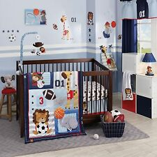 Lambs & Ivy Future All Star 6 Piece Baby Crib Bedding Set w/ Bumper & Mobile NEW