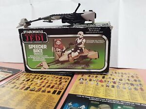 Vintage Star Wars Speeder Bike With Box Original but incomplete See Photos ROTJ