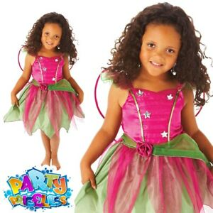 Kids Mulberry Fairy Costume Pink Girls Book Week Day Child Fancy Dress Outfit
