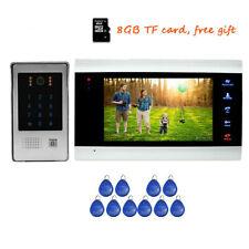 "720P AHD HD 7"" Video Door Phone Intercom Record System + Code Keypad RFID Camera"