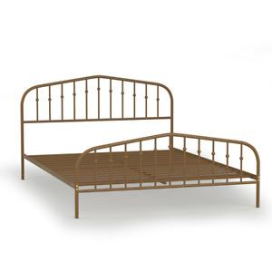 Queen Size Metal Bed Frame Steel Slat Platform