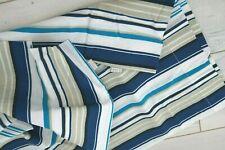SCION Housewife Striped Pillowcase Pair Blues Cotton Percale