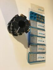 Ingersoll 3 Inch Indexable Milling Cutter 1.25 Arbor With 59 Zee324-003 Inserts