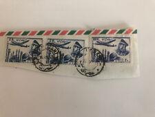 Iran posta aerea 1953 , francobolli su parte di busta viaggiata