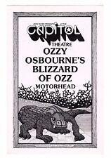 Original 1981 Blizzard of Ozz Motorhead Concert Program