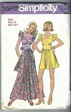 Simplicity Sewing Pattern 5670, Vintage Dress with Square Neckline, Size 10