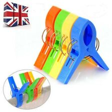 8Pcs Large Bright Colour Plastic Beach Towel Pegs Clips to Sunbed Tools Home